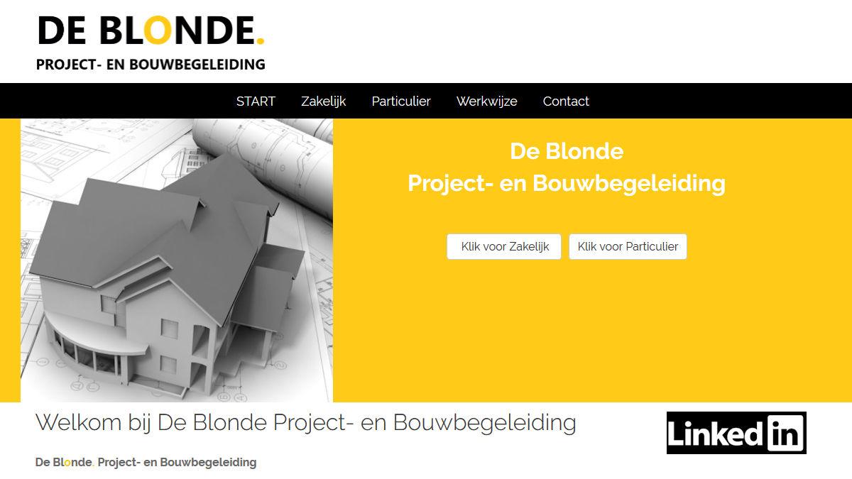 De Blonde Project- en Bouwbegeleiding
