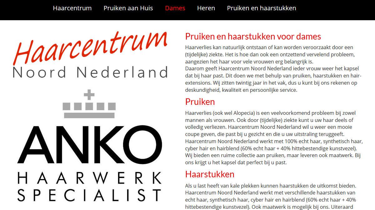 Haarcentrum Noord Nederland is gespecialiseerd in pruiken, haarstukken en extensions.
