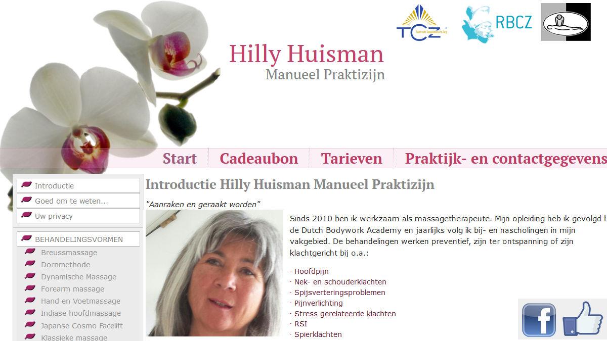 Hilly Huisman Manueel Praktizijn, massagetherapeute