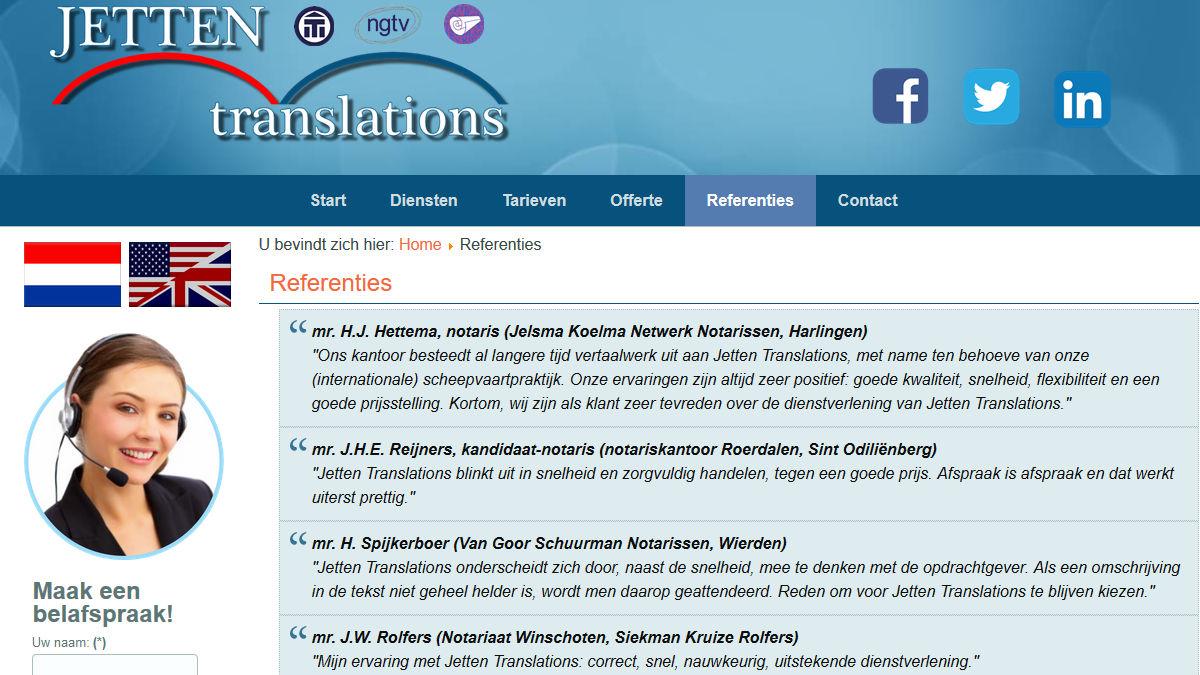 Jetten Translations: juridische en medische vertalingen